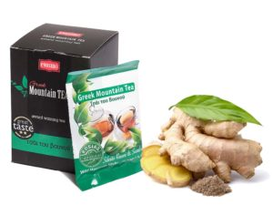Greek Mountain Tea with Ginger