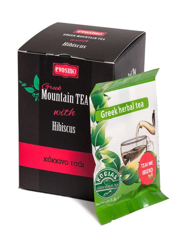 Greek Mountain Tea with Hibiscus